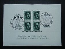 Germany Nazi 1937 Sheet Stamps CTO Used Wmk Adolf Hitler Third Reich German 48th