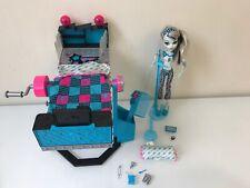 Monster High Frankie Stein Mirror Bed & Doll - Complete Set - Furniture Lot HTF