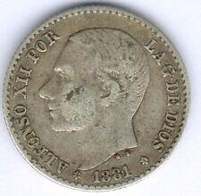 Spanien Alfonso XII. (1874-1885) 50 Centimos 1881 SM-M KM#685, ss