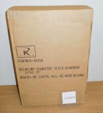 "K-LINE K-4643A MILWAUKEE ROAD HIAWATHA ALUMINUM PASSENGER 15"" 2 CAR SET O SCALE"