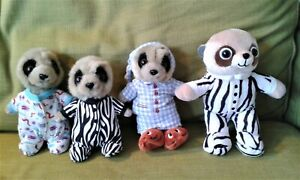 """4 x Baby Oleg Meerkat 8"""" and 6"""" Assorted Soft Toy Plush Comforters  EXCELLENT"""