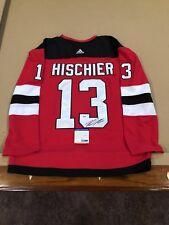Nico Hischier Signed Custom New Jersey Devils Jersey w/ PSA COA NHL STAR