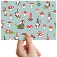 "Garden Gnomes Mushroom Snail Small Photograph 6""x4"" Art Print Photo Gift #14595"