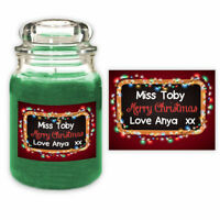 Personalised Christmas School Teacher Candle Label Gift