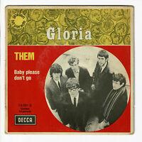 "THEM Vinyl Record 45T 7"" SP GLORIA - BABY PLEASE DON'T GO - DECCA 79091 RARE"
