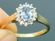 9ct Gold Sapphire & Diamond Hallmarked ring size N