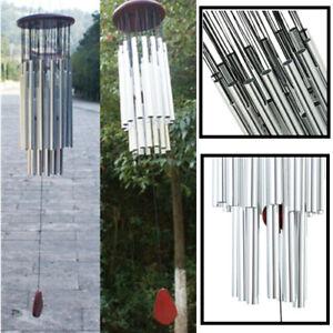 NEU Windspiel Klangspiel 27 Klangröhren Garten Dekor Feng Shui Windharfe Haus DE