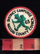 Vintage 1963 NASSAU COUNTY COUNCIL DISTRICT CAMPOREE BSA Boy Scouts Patch 86I5