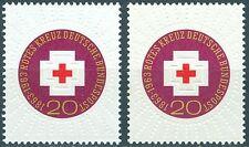 Bund 400 100 Jahre Int. Rotes Kreuz ** mit weißem und gelbem Gummi