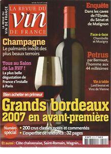 VIN DE FRANCE N°521 GDS BORDEAUX / CHAMPAGNE / CAVES DE L'ELYSEE, SENAT,MATIGNON