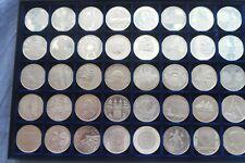 40 x 10 Euro Gedenkmünzen 2002-2009 Silber 925 Stempelglanz Sammlung