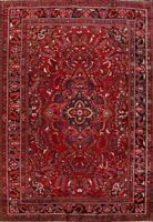 Excellent Vintage Floral Lilihan Area Rug Wool Oriental Hand-Knotted 9x13 Carpet