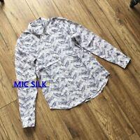 Brett Silk Placement Print Equipment Shirt Special Offer