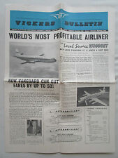 VICKERS ARMSTRONG BULLETIN VANGUARD VISCOUNT VC-10 AIRLINER AIRLINES ROLLS-ROYCE