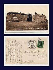 US NEBRASKA GOTHENBURG PUBLIC SCHOOL REAL PHOTO 1913 TO ELLA BLUNK GRAND ISLAND