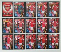 2019/20 Match Attax UEFA Soccer Cards - Arsenal Team Set (15 cards) SALE