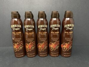Hawaiian Tropic Royal Tanning Clear Spray NEW (5) 5.4oz. FREE USPS Priority Mail