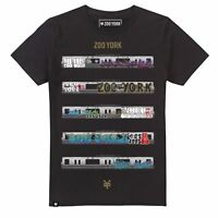 Mens Zoo York TRACKS Subway Metro Underground Train Graffiti T-Shirt Tee - Black