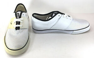 Puma Shoes El Ace Leather Perforated White/Black Sneakers Size 8.5