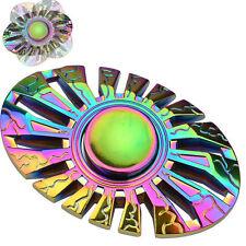 New Multicolor Alloy Metal Edc Fidget Hand Spinner Finger Focus Adhd Toy Rainbow