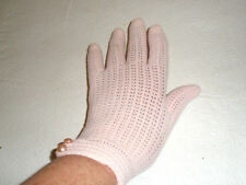 Vintage Gloria Fashion Gloves Pink Stretchable Faux Pearl Japan