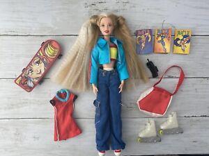 1998 90s Barbie Generation Girl Tori Skateboarder Inline Skates With Accessories