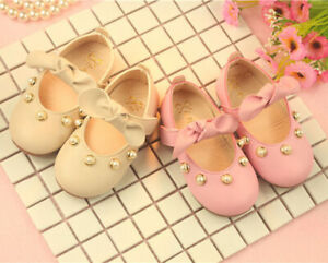 Princess Girl Child Pearl Dress Party Shoe Baby Infant Kid Casual Trainner Shoes