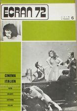 Revue ECRAN 72-N°6-Petri-Volonte-lattuada-Fellini-cinéma italien-Orange mecaniqu
