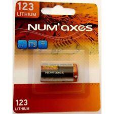 Pile Lithium CR123 3V pour collier Canicalm Numaxes