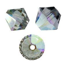 20 Perles Toupies 4mm Cristal Swarovski  ref 5301 - BLACK DIAMOND AB