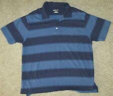 St. John's Bay Size L Multi-Color Short Sleeve Polo Shirt EUC 100% Cotton