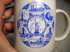 new york city coffee cup twin towers world trade center & staue of liberty+empir
