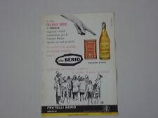 advertising Pubblicità 1960 OLIO FRATELLI BERIO