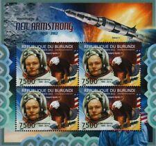 Neil Armstrong NASA APOLLO XI LUNE astronaute espace STAMP SHEET #5 (2012 Burundi)