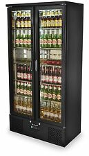 Capital Platinum 500 Eco-Cool  Double Door Back Bar Bottle Cooler fridge - Black