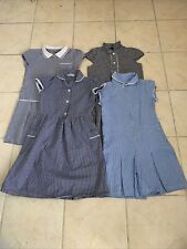 4 Blue Gingham School Summer Dresses & Play suit Age 8-9