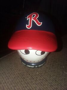 Rare Vintage 1960s Rochester Red Wings  Ceramic Baseball Cap Hat Coin Bank