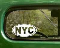 2 NYC DECALs New York City Oval Sticker For Bumper Truck Car Rv Window Laptop