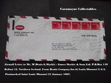 Par avion lettre à M. W. Denis G. Mackie. James Mackie & Sons Ltd Belfast.AH0505.