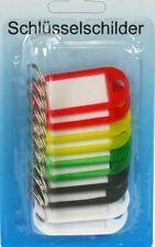 50 Stück Schlüsselschilder 5 Farben Schlüsselanhänger zum Beschriften Bunt