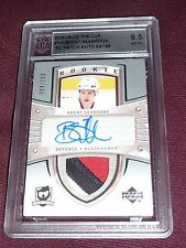 05-06 The Cup Brent Seabrook Auto 3CLR Patch RC 84/199 GRADED ACA 8.5 AUTO 10