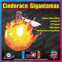 NEW Gigantamax CINDERACE ✨ 6IV ✨ Square/Ultra Shiny ✨ Pokemon Sword and Shield
