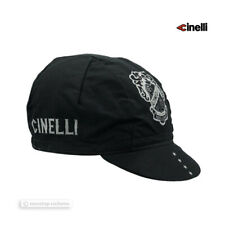 NEW Official Cinelli CREST Logo Cycling Cap : BLACK - Made in Italy!