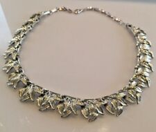 Vintage Coro Collar Choker Necklace Leaf Motif Signed