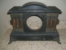 Antique Vintage Shelf Mantle Clock 6 Column Wood Case