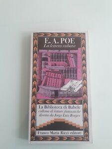 Franco Maria Ricci, E A POE: LA LETTERA RUBATA,  Biblioteca di BABELE 16, Borges