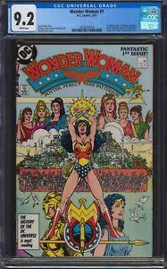 Wonder Woman #1, CGC 9.2, 1987, Wraparound Cover, New Origin of Wonder Woman