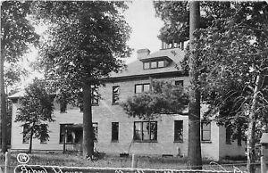 H70/ New York Mills Minnesota RPPC Postcard c1910 School House 77