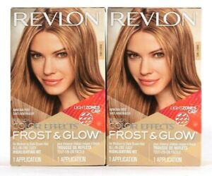 2 Boxes Revlon Color Effects Frost & Glow Honey All In One Easy Highlight Kit