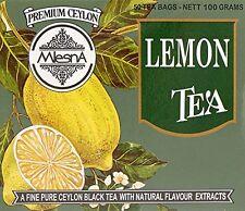 Mlesna Pure Ceylon Lemon Black Tea 50 Tea Bags (100g) Box.